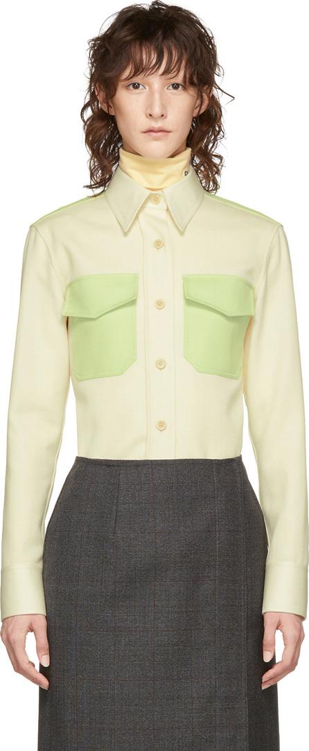Calvin Klein 205W39NYC Off-White & Green Western Shirt