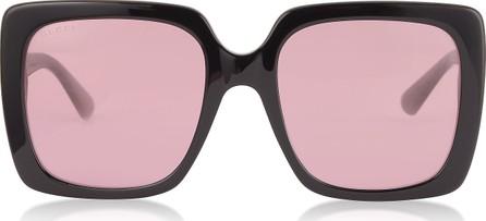 Gucci GG0418S Rectangular-frame Acetate Sunglasses