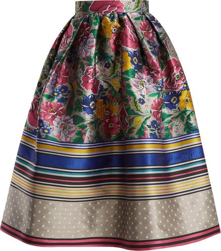 Mary Katrantzou Bowles floral jacquard skirt