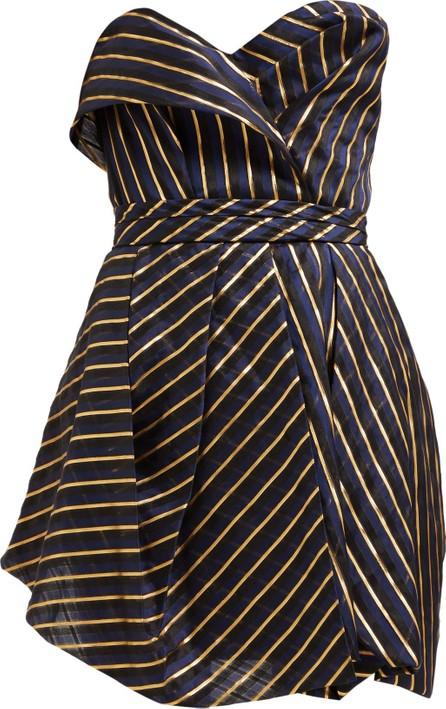 Alexandre Vauthier Strapless striped organza mini dress