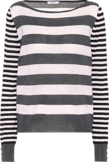 Max Mara Marica striped silk and cashmere sweater