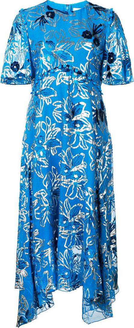 Prabal Gurung Flutter sleeve button dress