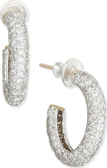 GURHAN Galahad Diamond Oval Hoop Earrings