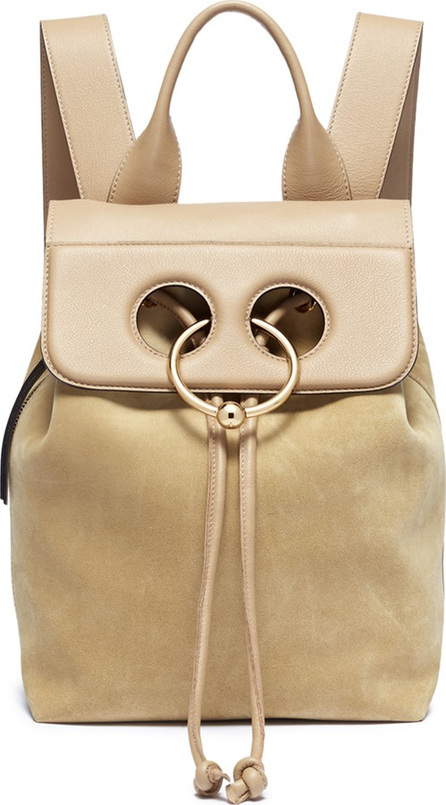 J.W.Anderson 'Pierce' barbell ring mini leather flap suede backpack