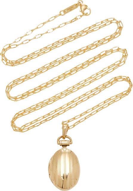 Monica Rich Kosann 18K Gold Petite Pinstripe Locket