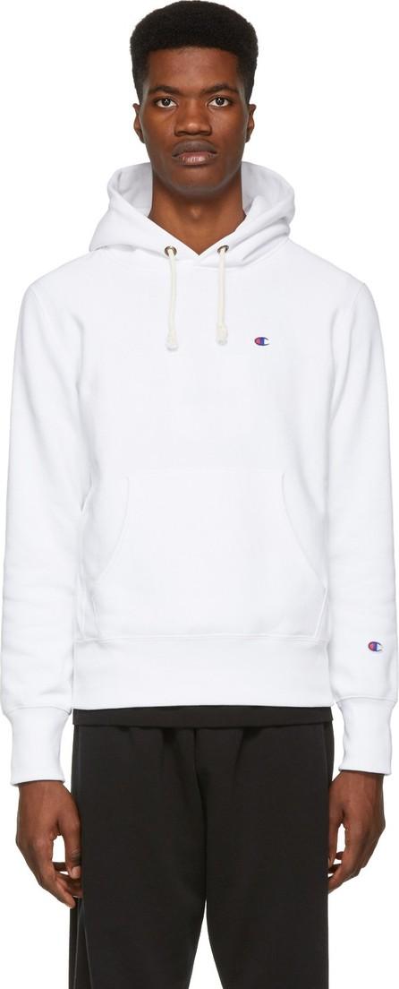 Champion Reverse Weave White Logo Hoodie