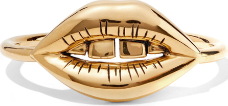 Aurelie Bidermann Red District 18-karat gold-plated cuff