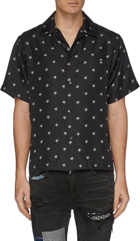 Amiri Star print silk short sleeve shirt