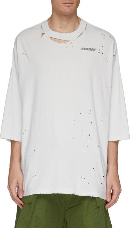 Ben Taverniti Unravel Project Logo print distressed T-shirt