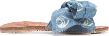 Brother Vellies blue denim Burkina sandal