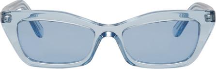 Balenciaga Blue Thin Cat Eye Sunglasses