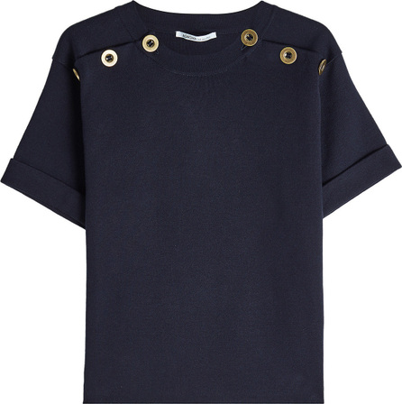 Agnona Cotton Top with Eyelets