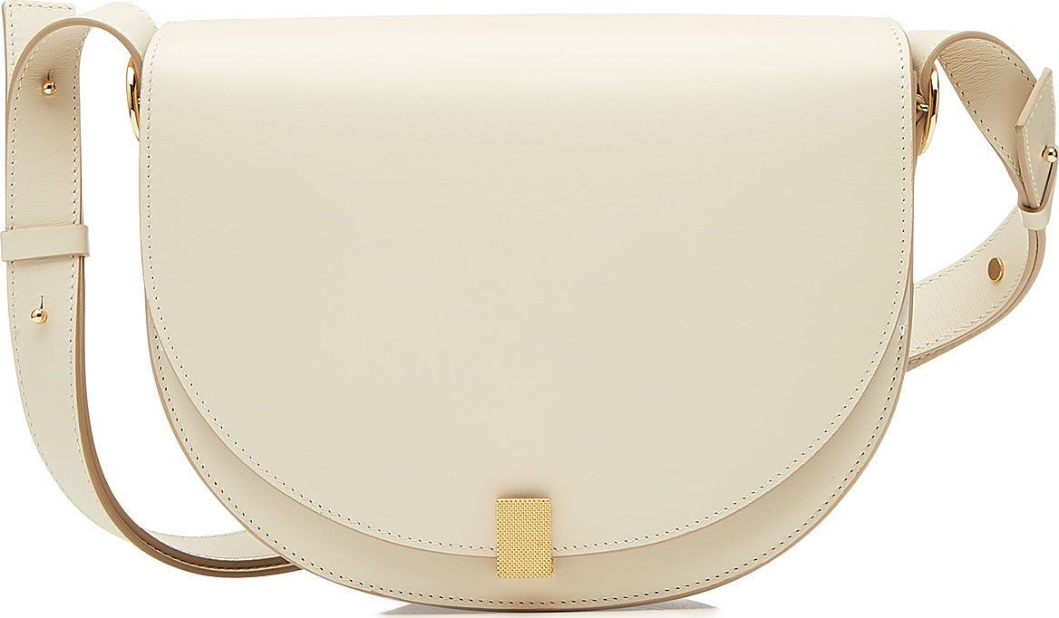 Victoria Beckham - Half Moon Box Leather Shoulder Bag