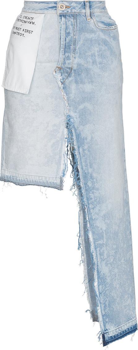 Ben Taverniti Unravel Project High waist denim ombre asymmetric skirt