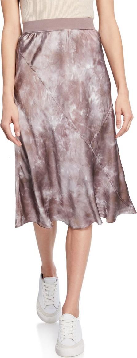 ATM Anthony Thomas Melillo Tie-Dye Silk Pull-On Skirt