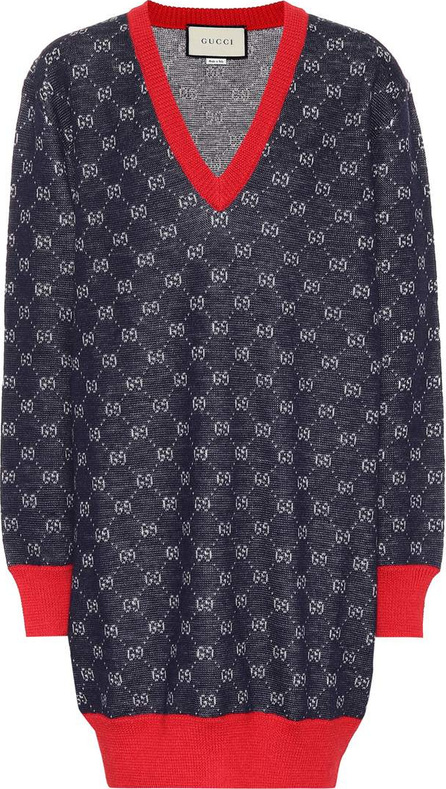 Gucci GG wool and alpaca sweater dress