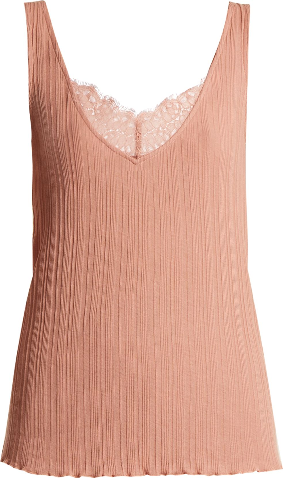 SKIN - Textured-cotton tank top