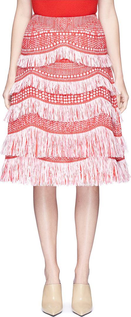Angel Chen Tassel fringe raffia skirt
