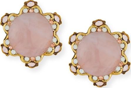 Jose & Maria Barrera Rose Quartz Button Clip-On Earrings