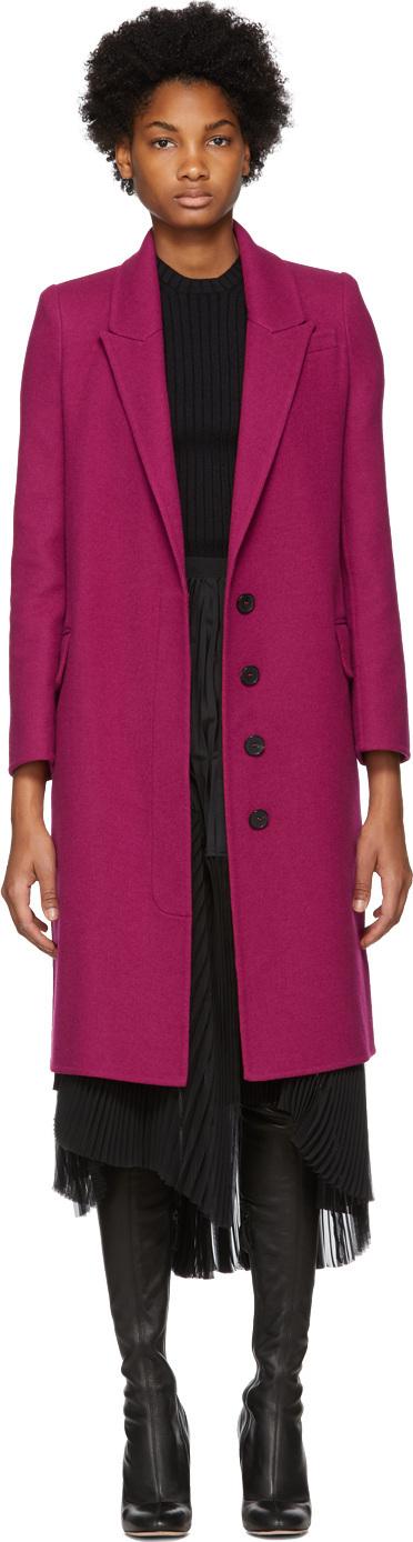 Alexander McQueen Pink Wool & Cashmere Coat