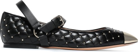 Valentino Studded quilted point-toe flats