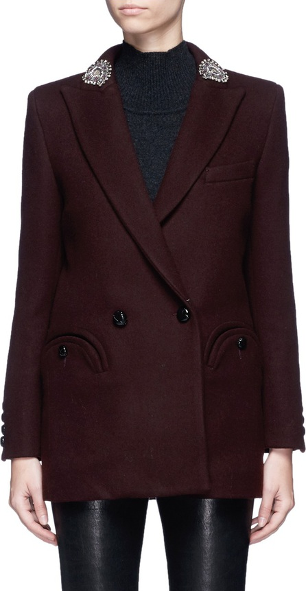 Blazé Milano 'Woodland' embellished lapel felted wool blazer