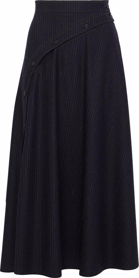 Nina Ricci Pinstriped wool-blend midi skirt
