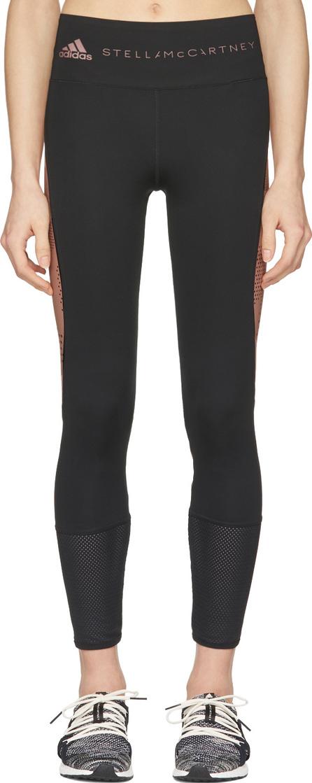 Adidas By Stella McCartney Black & Pink Training Tights