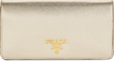 Prada Saffiano Flap Tech Crossbody Wallet Bag