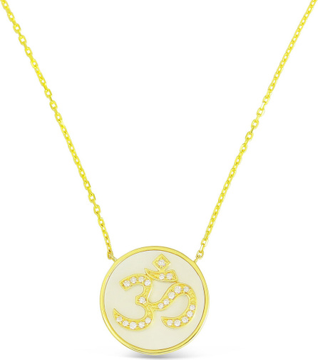 Frederic Sage 18k Gold Happy Diamond & Mother-of-Pearl Pendant Necklace