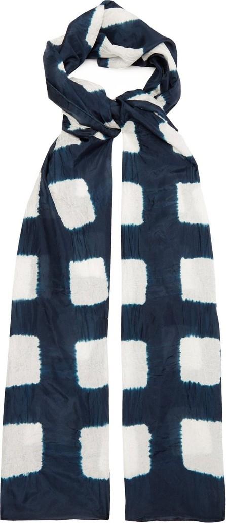 eskandar Expanding Squares Shibori-dyed silk scarf