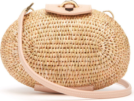 Khokho Lindi Minaudière leather-trimmed basket bag