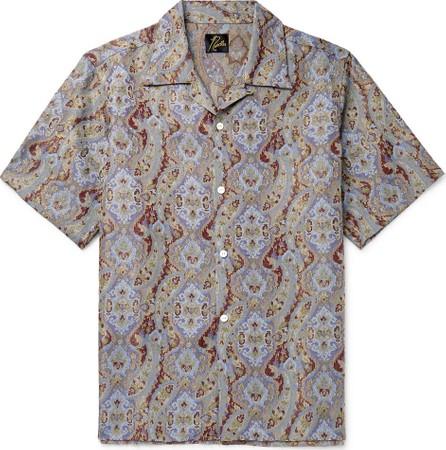 Needles Camp-Collar Paisley Jacquard Shirt