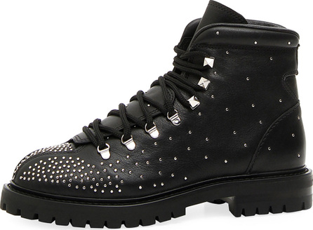 Valentino Dewstuds Leather Hiking Boot