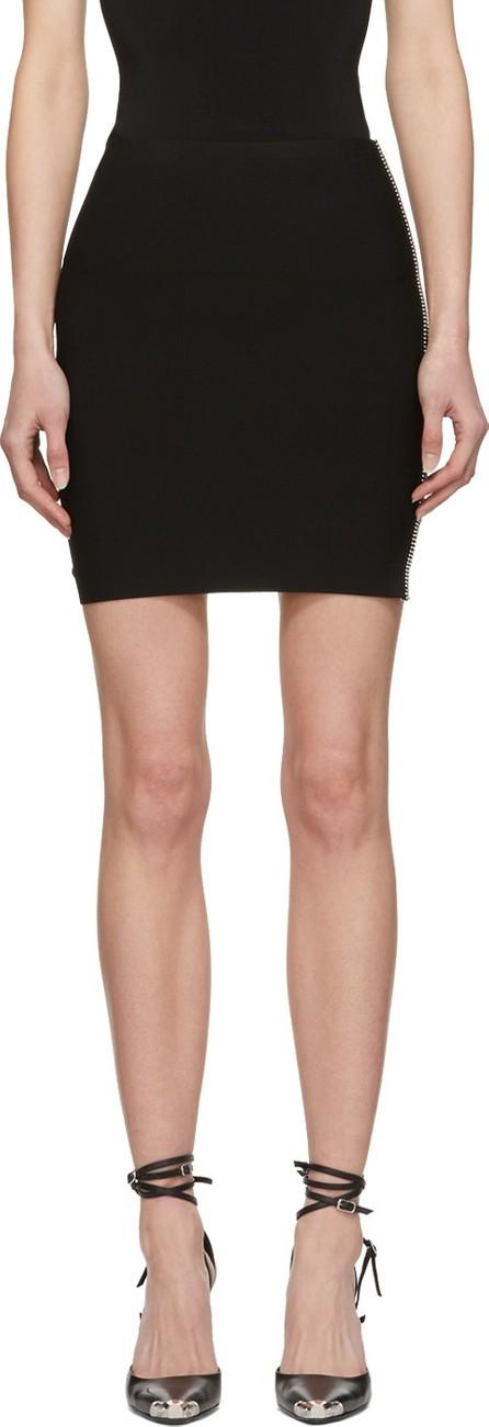 Alexander Wang Black Ball Chain Miniskirt