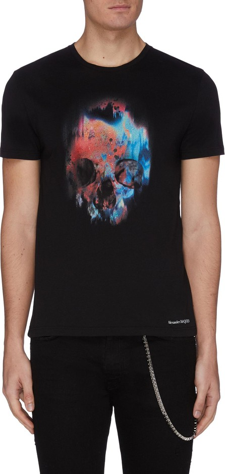 Alexander McQueen Neon skull print T-shirt