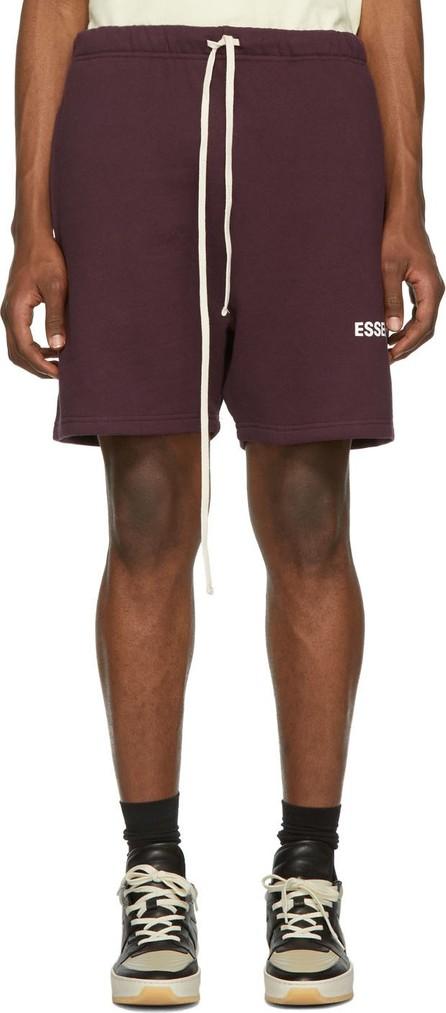 Essentials Burgundy Fleece Shorts