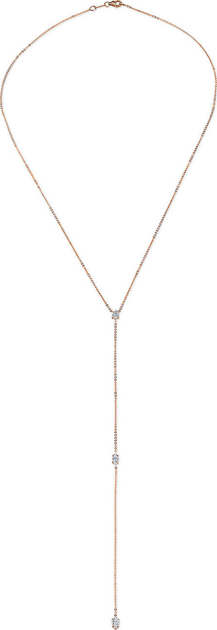 Anita Ko 18k Rose Gold Pear & Double Marquise Diamond Lariat
