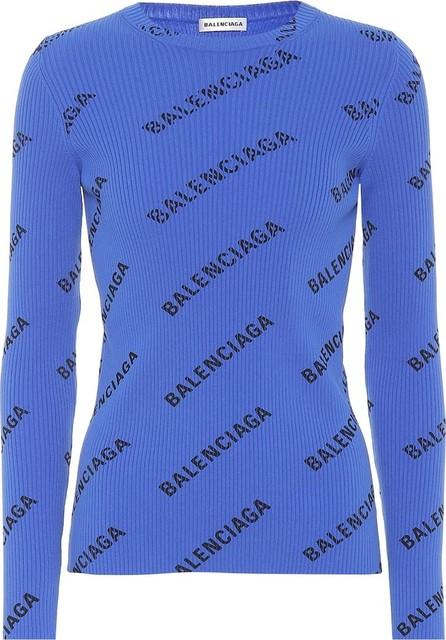 Balenciaga Logo ribbed sweater
