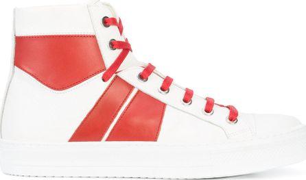 Amiri contrast panel hi-top sneakers