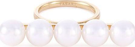 Tasaki 'Balance Signature' Akoya pearl 18k yellow gold ring