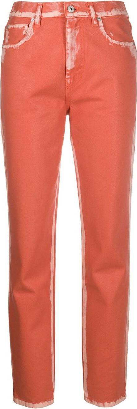 Heron Preston Bleached slim fit jeans