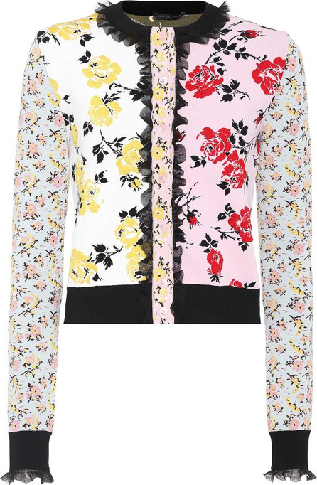 Alexander McQueen Floral jacquard cardigan
