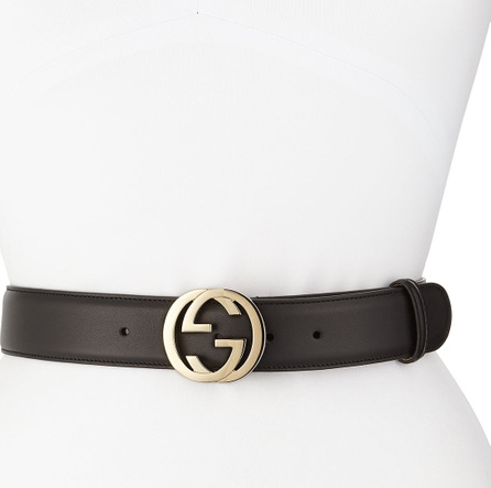 Gucci Wide Adjustable GG-Buckle Belt