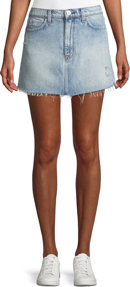Hudson Vivid Frayed Cutoff Denim Skirt