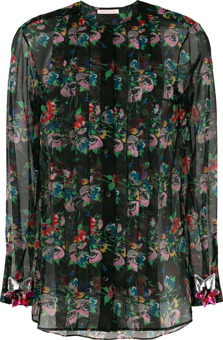 Christopher Kane Archive floral pleated blouse