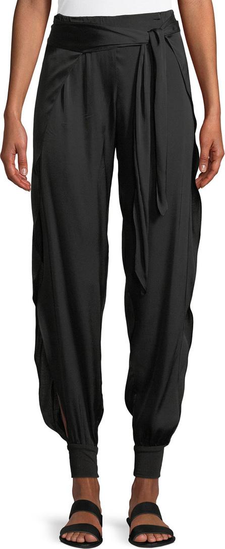 HALSTON HERITAGE Tie-Waist Flowy Cuffed Pants