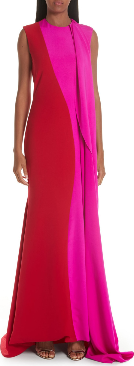 Christian Siriano Side Drape Two-Tone Gown