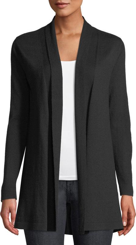 Elie Tahari Adele Shawl-Collar Merino Cardigan Sweater