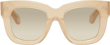 Acne Studios Beige Library Metal Sunglasses